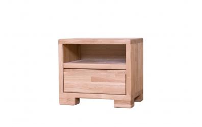 Noční stolek IMPERIA 1 zásuvka dub cink