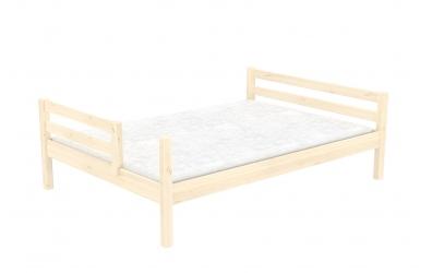 Dvoulůžko dělené čelo pravé smrk, dětská postel z masivu