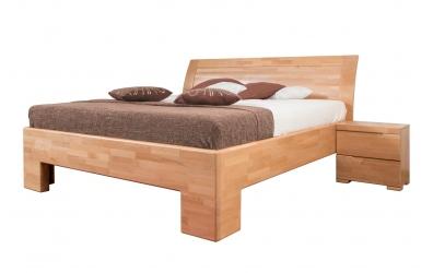 Manželská postel SOFIA čelo oblé plné 160 cm buk cink