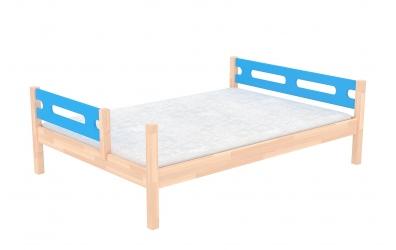 Dvoulůžko BUBLINY dělené čelo pravé buk cink, dětská postel z masivu