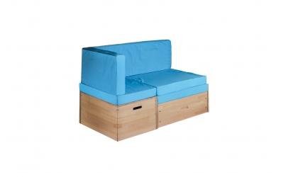 Rozkládací sedačka s úložným prostorem buk cink